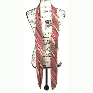 TRINA TURK Pink Colorful Striped Scarf Accessory